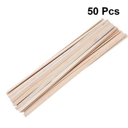 Healifty 50 piezas de palitos artesanales de madera palos de bambú ...