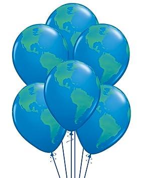 12 globe earth 11 latex balloons world design amazon baby 12 globe earth 11quot latex balloons world design gumiabroncs Choice Image