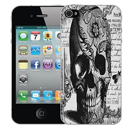 Mobile Case Mate iPhone 5 5s clip on Dur Coque couverture case cover Pare-chocs - noir periodical skull Motif avec Stylet