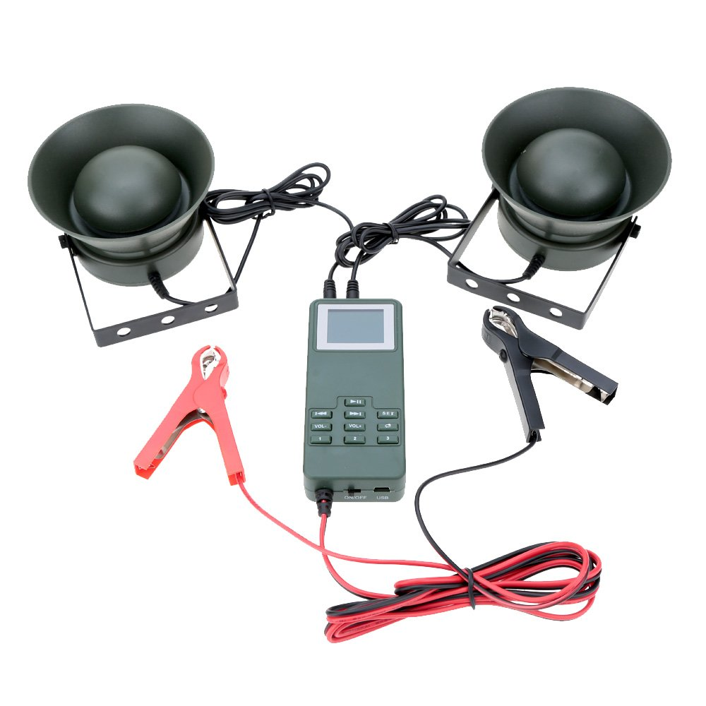 metebu (TM) exterior Caza Reclamo reproductor de mp3 Altavoz Amplificador de 50 W Pájaros de 150db de sonido Pájaros dispositivo portátil amplificador ...