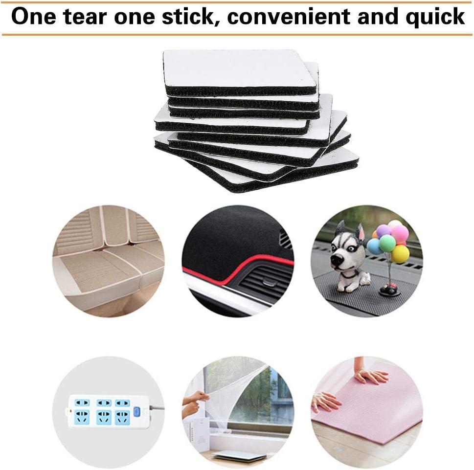 6 6CM Negro YANSHON Cinta Adhesiva Velcro 15 Pares Cintas Velcro Adhesivos de Doble Cara Tiras Tejido Adhesivo de Doble Cara Fijaci/ón Segura para Manual y Trabajos de Bricolaje