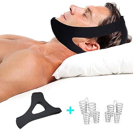 PHCOMRICH Snoring Solution Stop Snoring - Correa para la barbilla, antironquidos con reducción de la