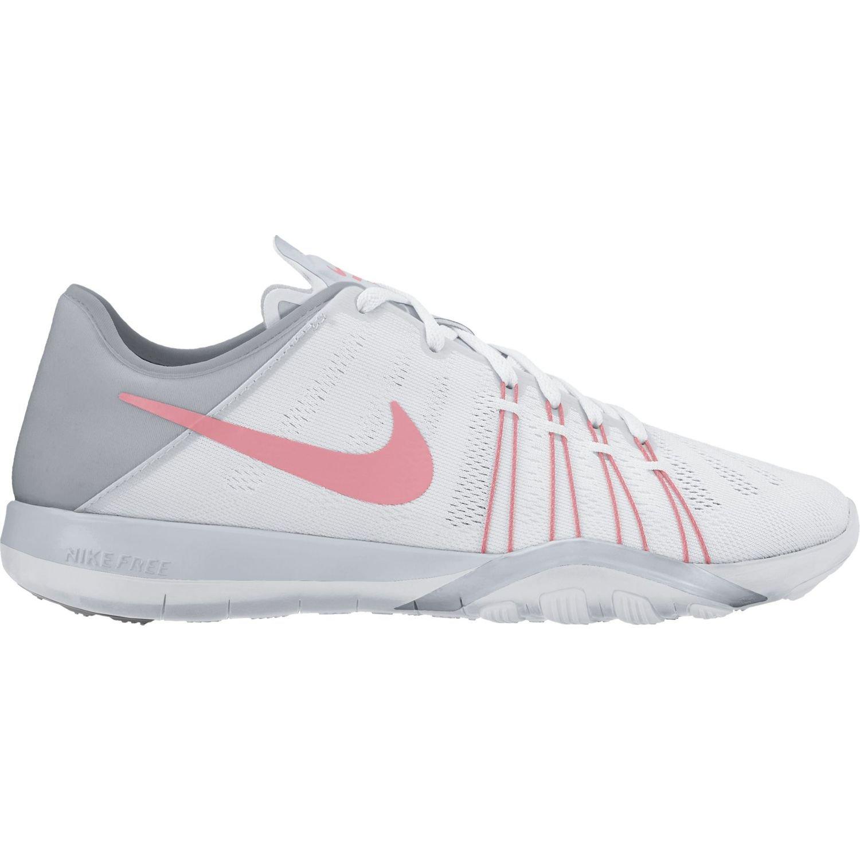 Womens Nike Free TR 6 Training Shoes B00CLVLRCG 8.5 B(M) US|White/Bright Melon/Wolf Grey
