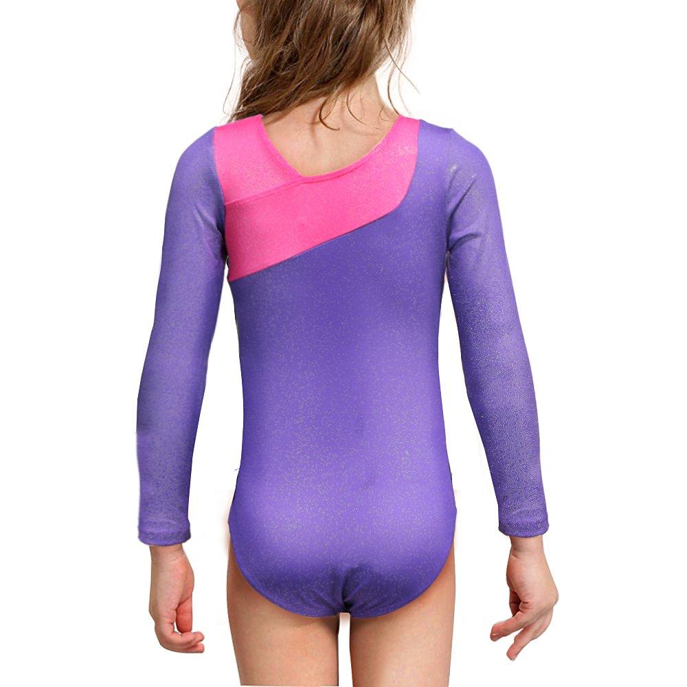 Kidsparadisy Justaucorps de Gymnastique  à Manches Longues pour Filles  Sparkly Dance Practice Costume a17abe60798