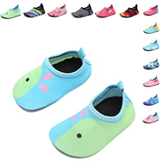 DREAM KIDS Swimming Water Shoes Boys&Girls Aqua Barefoot Quick-Dry Sock for Beach Pool Surfing