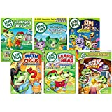 Leapfrog dvd: Learn 11-DVD Mega Pack set + 26 Flash cards (Let's go to school/Letter Factory/ Talking Words factory/Great shape Mystery/Learn to read/ Math Circus/Sing and Learn with us/Phonic)