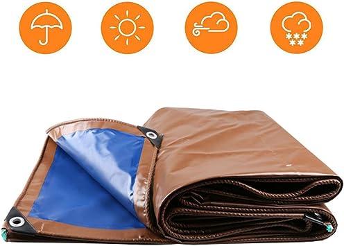 NMRCP Lona Impermeable, Lonas Impermeables Exterior Lona De PVC Marrón Resistencia Desgarro para Muebles, Jardín, Piscina, Coche 550g/m²: Amazon.es: Deportes y aire libre