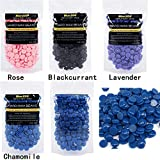 BlueZOO 4 Packs of Brazilian depilatory Hard Wax Beans for Legs,Body,Bikini Hair Removal Salon