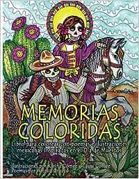 Memorias Coloridas: Libro para colorear con poemas e