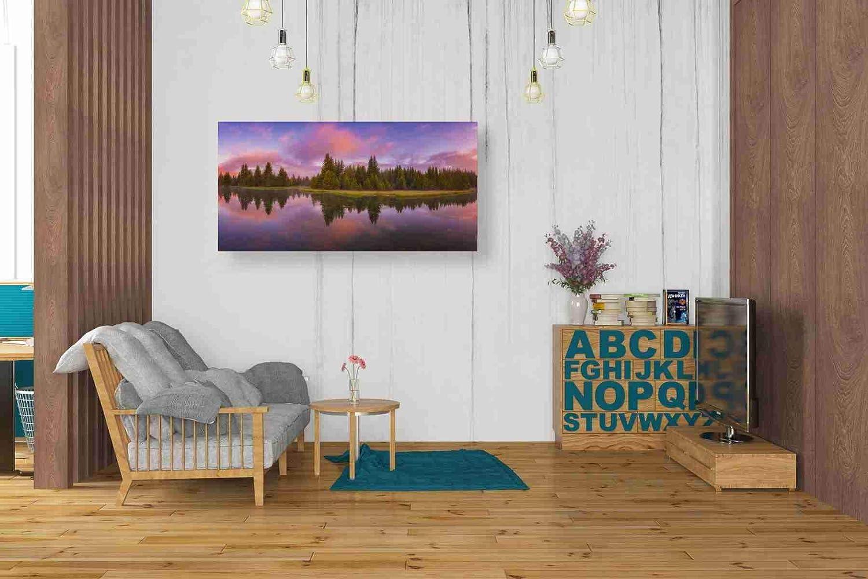 Epic Graffiti Snake River Sunrise by Darren White Giclee Canvas Wall Art 12 x 24