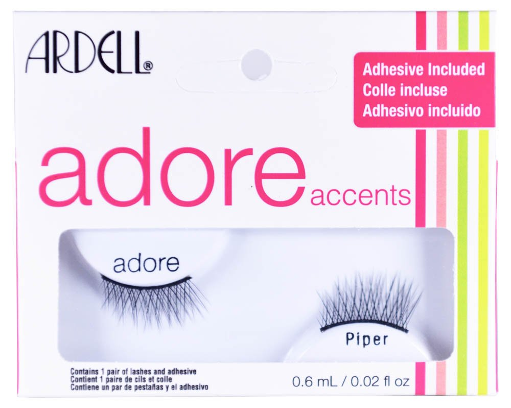 4f3638a5edd Amazon.com : Accent False Eyelashes Adore Lash Piper, 4 pack by Ardell :  Beauty