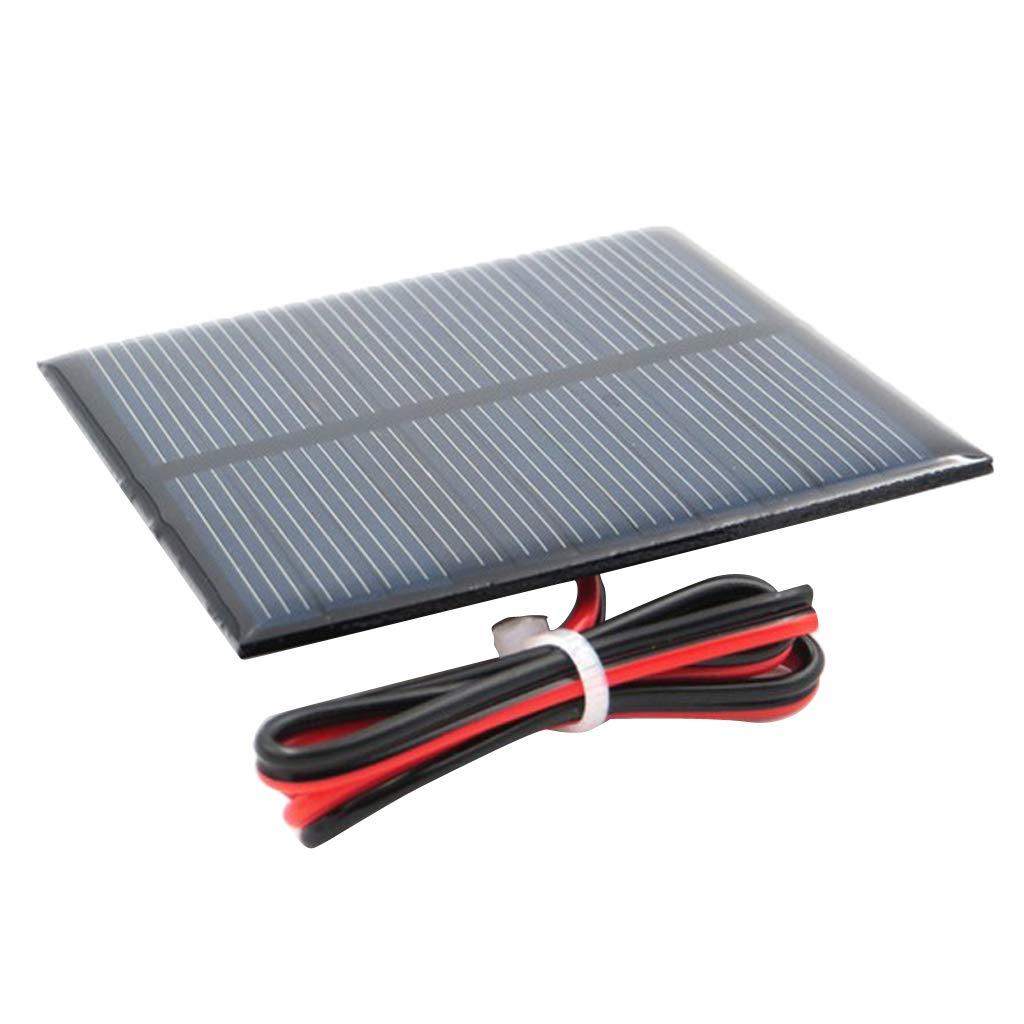 B Blesiya Panneau Solaire Chargeur de Batterie Silicium pour Voiture Bateau Extérieur - Un 4V 55x55mm