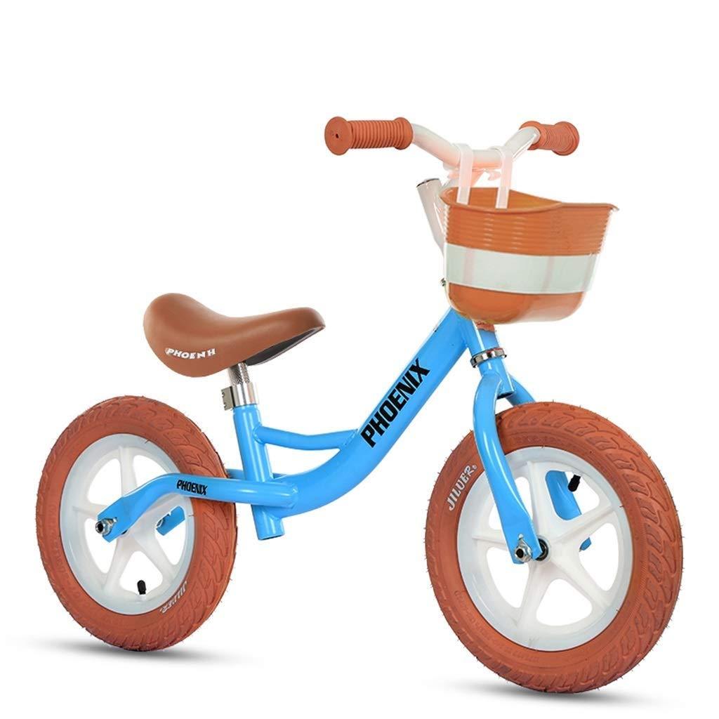 スポーツバランスバイク、ランニングウォーキングバイク、ウルトラライト、ペダルなし - 屋内/屋外用青/黄色の男の子/女の子用プッシュバイク、バランスのとれたバイク、調節可能なハンドルバー、シート ZHAOFENGMING (Color : Blue, Size : As shown) B07TCMB2DW Blue As shown