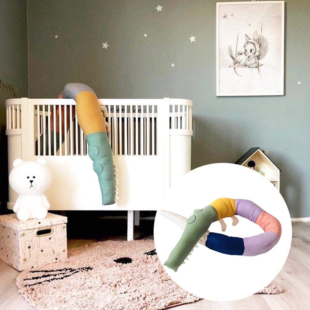 Cartoon Crocodile Bed Fun Creative Crocodile Doll Children's Room Decoration Toy Crib Bed by coolwild