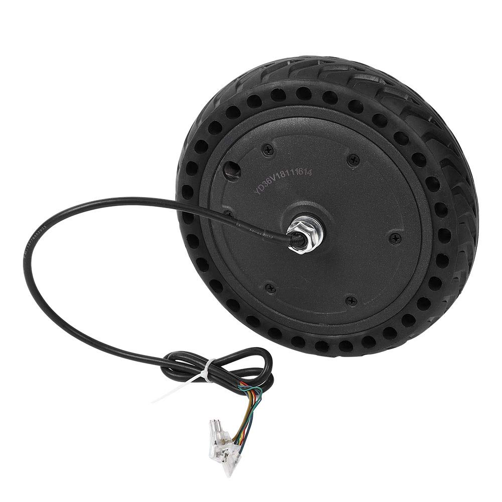Delaman Scooter Wheel Motor/Explosion Proof Wheel Tire Set for Xiaomi M365 Electric Scooter Tyre Replacement, Black