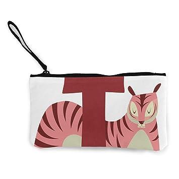 Monedero T para mujer Tiger, cierre de lona, bolsa de viaje ...