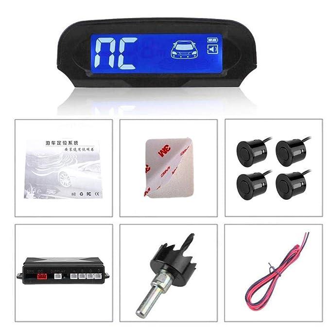 Happt Sistema inalámbrico de Asistencia con Detector de Radar de Marcha atrás con reversión automática del Sensor de estacionamiento de automóviles 4 ...