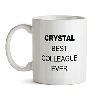 Amazon Crystal Best Colleague Ever Gift Mug