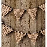 Luna Bazaar Vintage Pennant Garland Banner (9.5 Feet, Music Color Story, 12 Large Paper Bunting Flags)