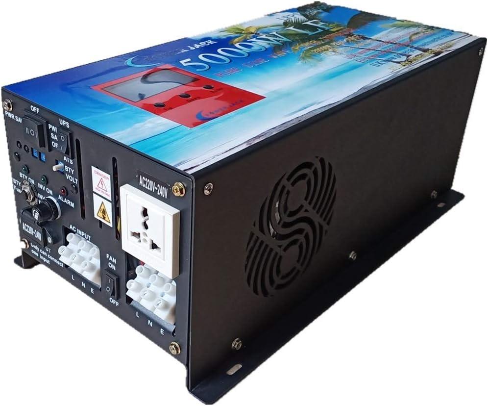 POWER JACK Inversor Onda Pura 5.000W con Convertidor 24V a AC 220V con Pantalla LCD y Cargador 80Ah