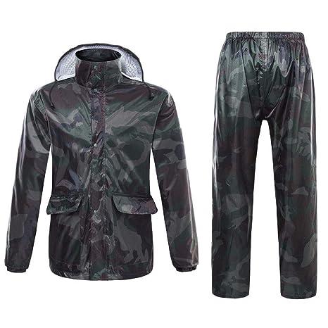 Chaqueta Impermeable con Capucha para la Lluvia Pantalones ...