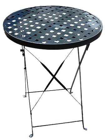 Amazon.de: Bistro-Tisch Gartentisch Tisch, rund, Metall, D: 60cm H ...