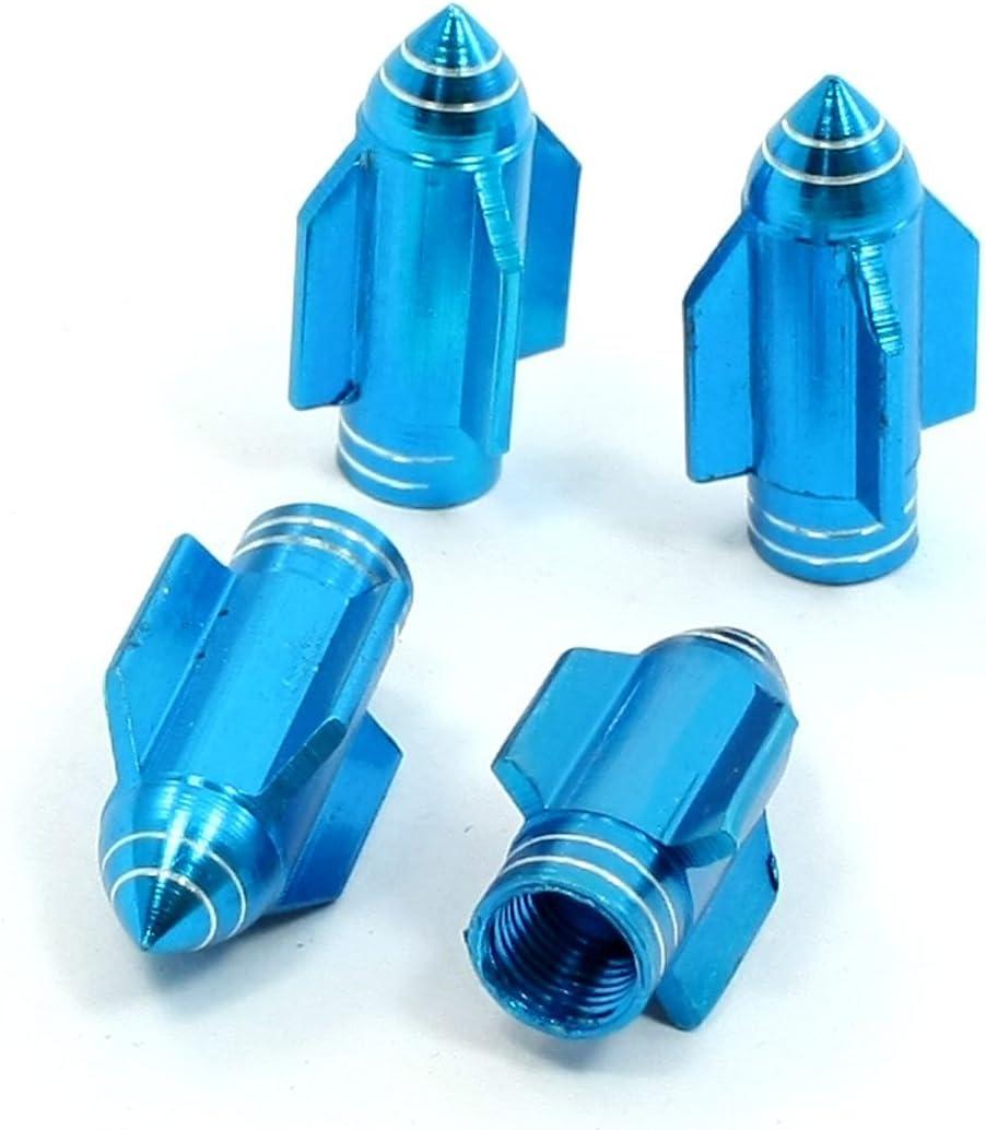 Aereo DealMux 4 Tappi coprivalvola a Forma di Pneumatico per Auto Blu