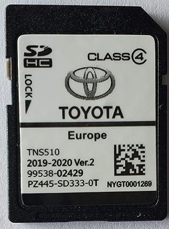 Tarjeta SD GPS Europe TNS510 Toyota 2019-2020 Ver.2 - PZ445-SD333-0T: Amazon.es: Electrónica