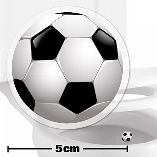 2 x pegatinas con diana de pelota de fútbol (5cm) Ayuda para que ...
