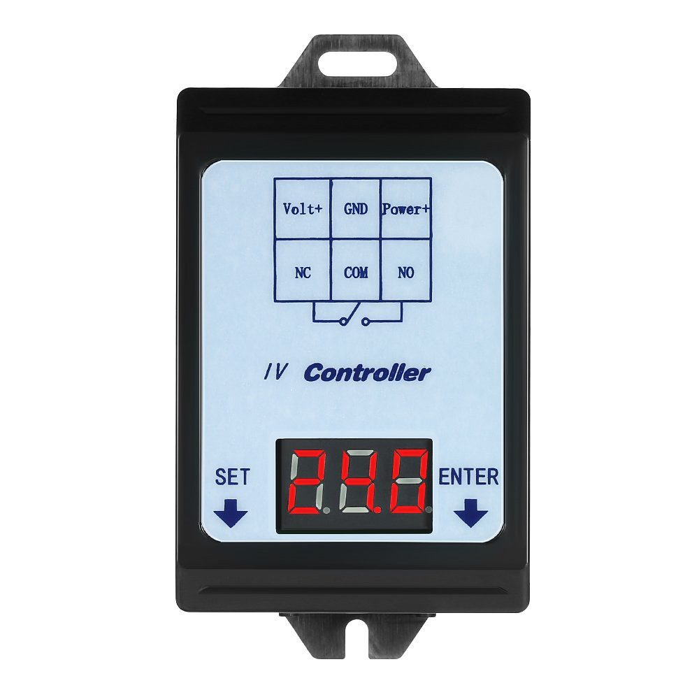 DC 6~80V Voltage Detection Charging Discharge Monitor Relay Switch Controller with Case LED Display
