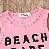 2Pcs Newborn Toddler Baby Girls Beach Babe Vest Top