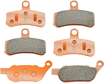 Volar Sintered HH Front /& Rear Brake Pads for 2008-2017 Harley Dyna Fat Bob FXDF Cast