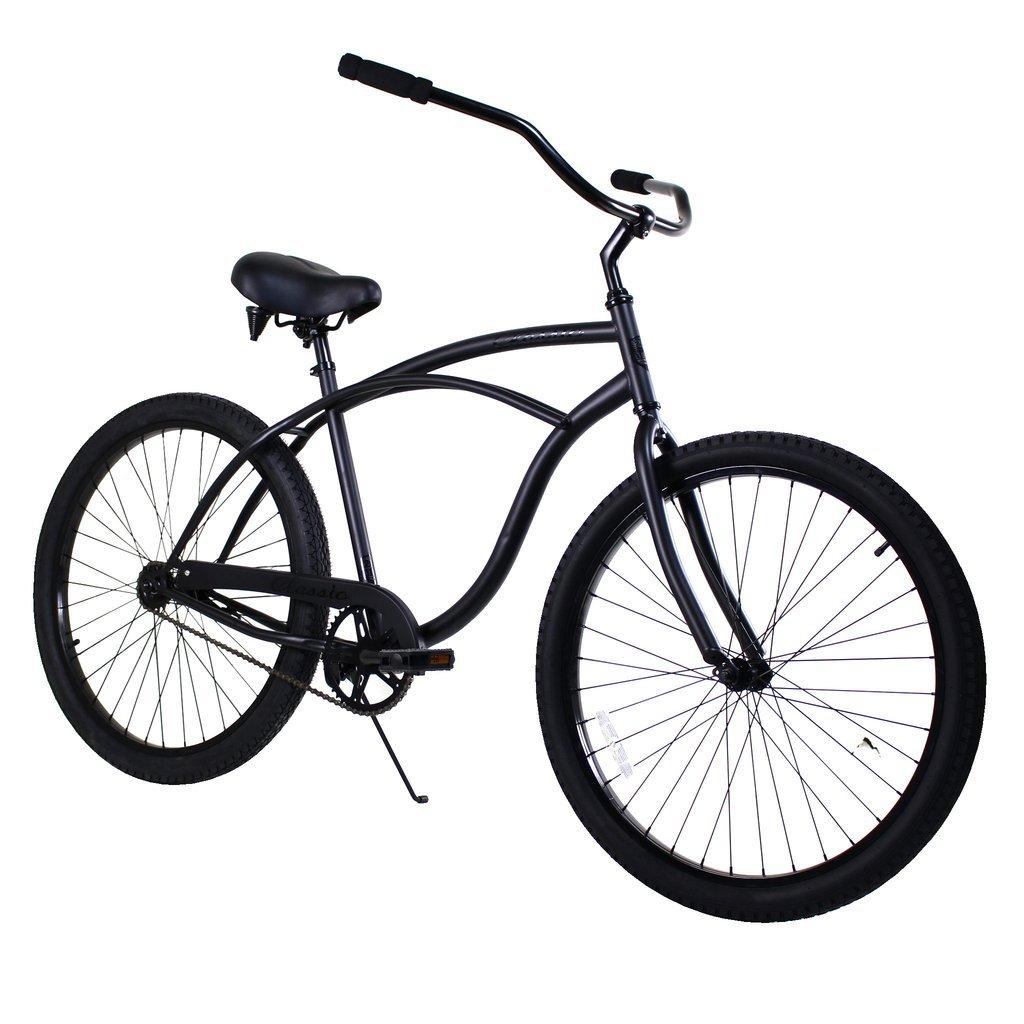 Zycle Fixバイククラシックメンズシリーズビーチクルーザー自転車 – マットブラック B06WD52Q8F