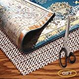 AMZOK Area Rug Pad Grippers 2x6 - Non-Slip Rug Pad 2x6 Rug Pad Under Rug Non Skid Under Cushions Extra Grip for Hardwood Floor Rug Non Slip Pad Skid for Rug Slip Rug Non Slip Carpet Mat