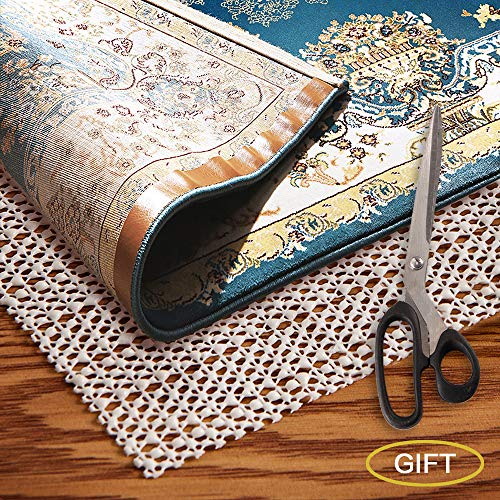 AMZOK Area Rug Pad Grippers 2x6 - Non-Slip Rug Pad 2x6 Rug Pad Under Rug Non Skid Under Cushions Extra Grip for Hardwood Floor Rug Non Slip Pad Skid for Rug Slip Rug Non Slip Carpet Mat (7 2 Runner X)