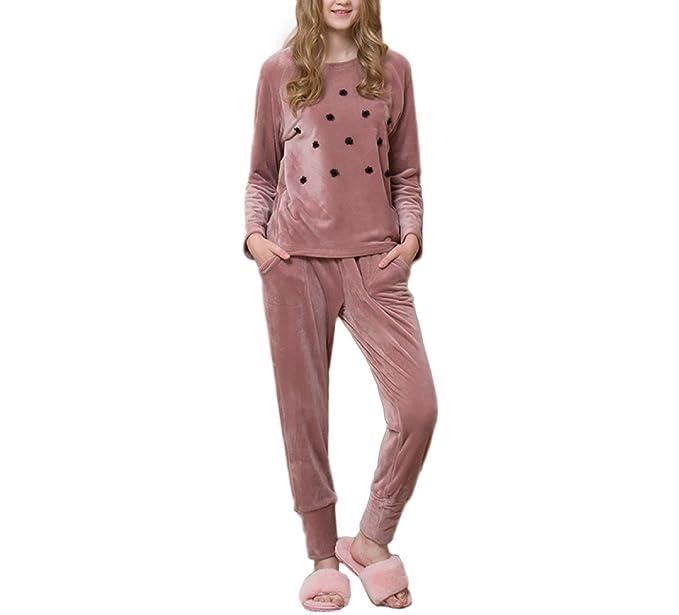 Pijamas De Franela De Mujer Pijamas Finos De Invierno Pijamas Cómodos Suaves Pijamas De Manga Larga
