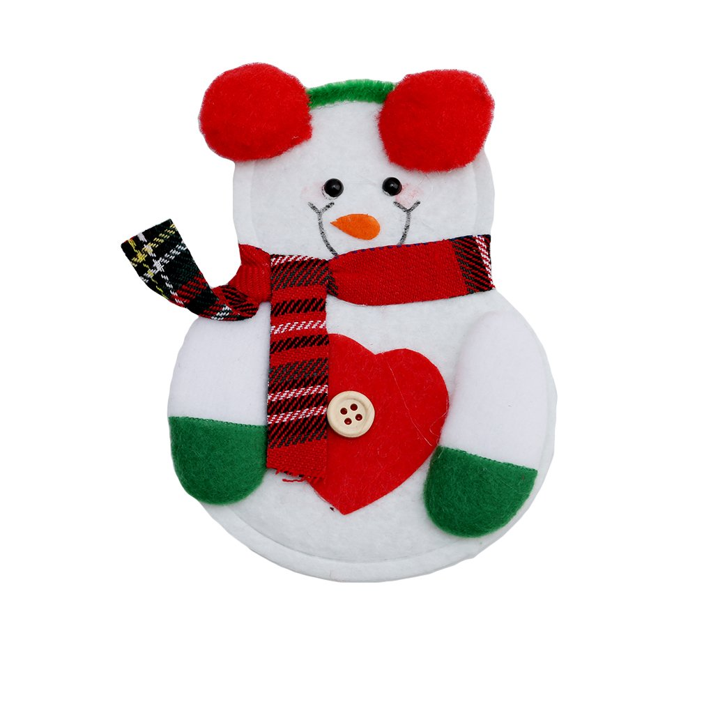 UNKE Christmas Tableware Sets Xmas Silverware Bags Knife and Fork Table Decoration ,Snowman