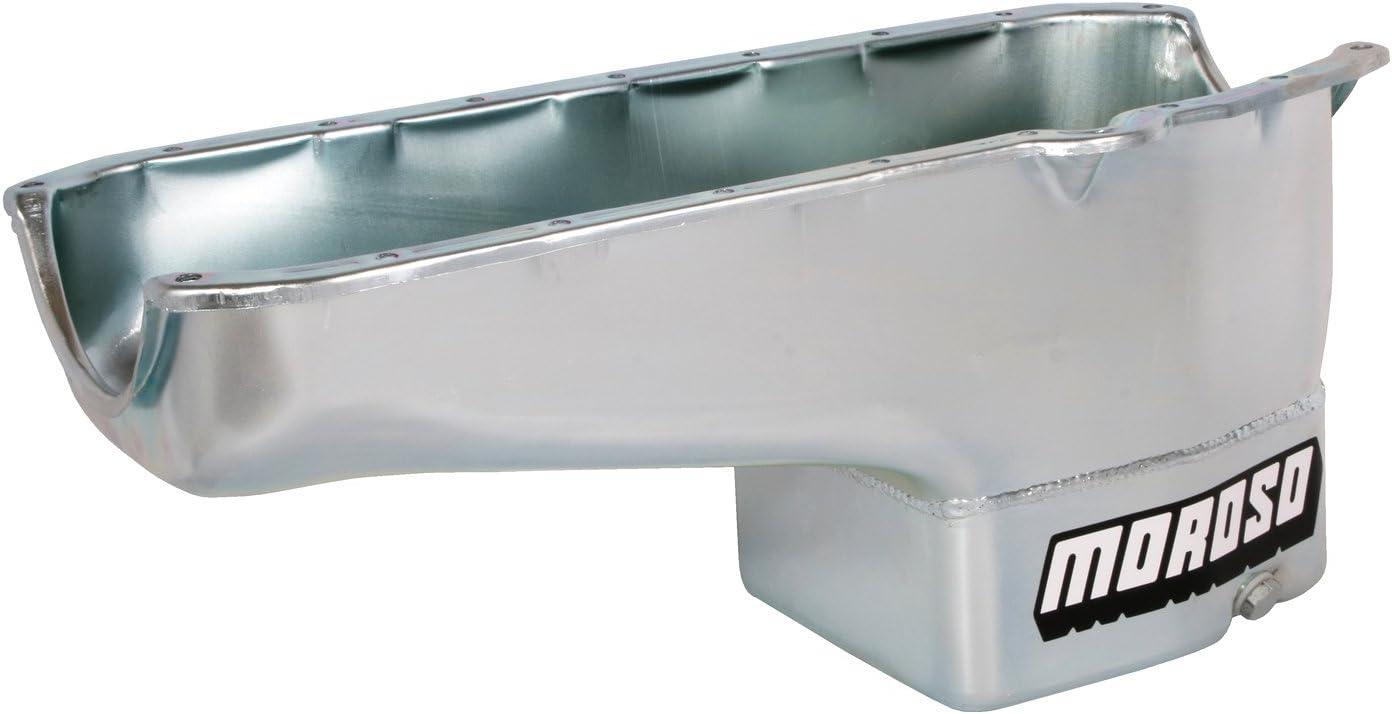Chevy Small Block Each Moroso 20160 Oil Pan Steel Clear Zinc 7 qt