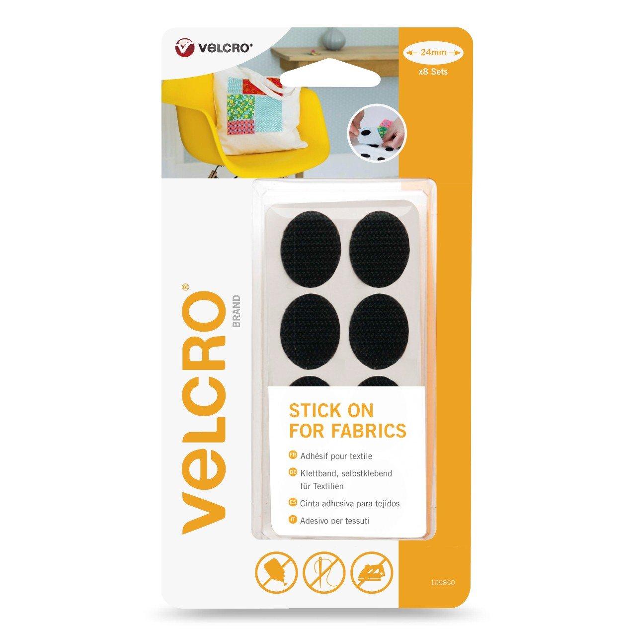 VELCRO Brand Stick On For Fabrics Tape, 19 mm x 60 cm - White VEL-EC60410
