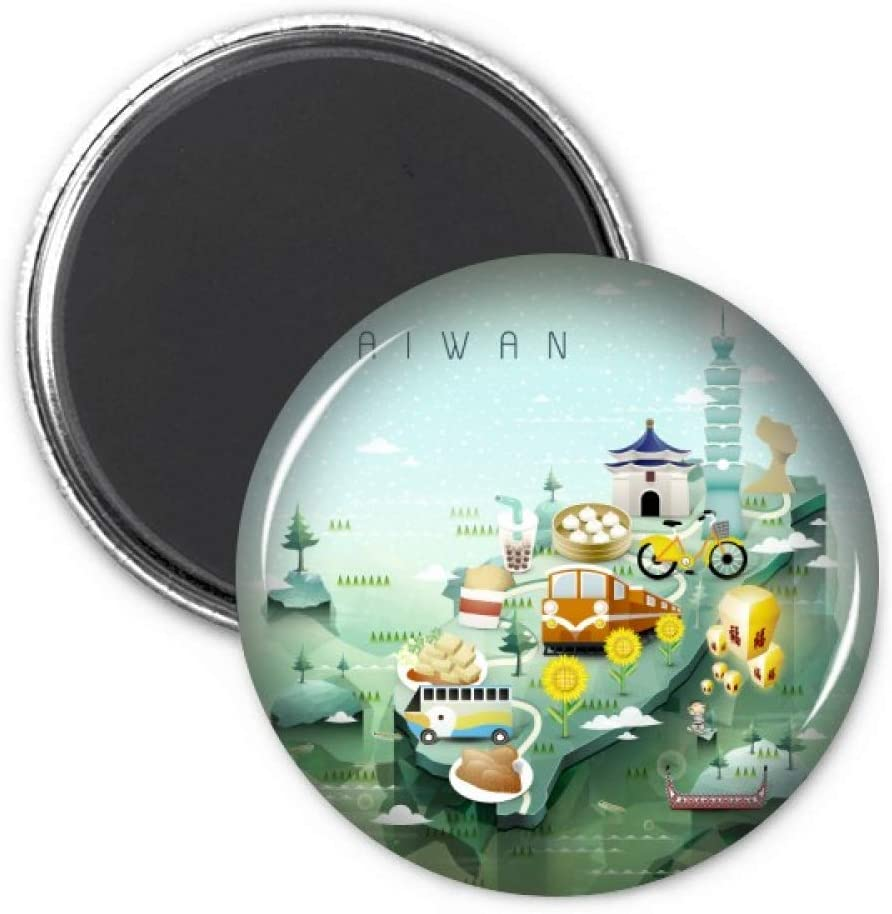 Travel Taiwan Food Attractions China Refrigerator Magnet Sticker Decoration Badge Gift