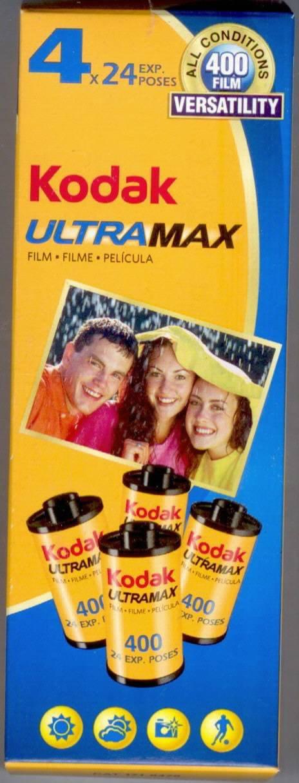 Kodak UltraMax Film 4 Rolls 24 Exposure 35mm Film ISO 400 Speed CAT 1719475
