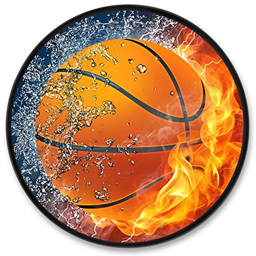 Flame Basketball Phone Stand, AKON Customized Expanding Cell Phone Holder/ Stand/ Grip for Smartphones and Tablets- Flame Basketball