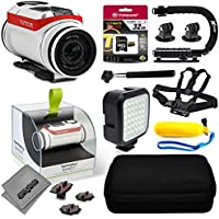 TomTom Bandit 4K Action Camera with 32GB Ultra Memory + Premium Case + Opteka X-Grip + Selfie Stick + Chest Harness Strap + LED Night Light + Floaty Bobber & More