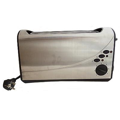 2 Inoxydable Grille-pain Ménage En Acier Grille-pain Automatique Petit Ordinateur,Grey-AllCode