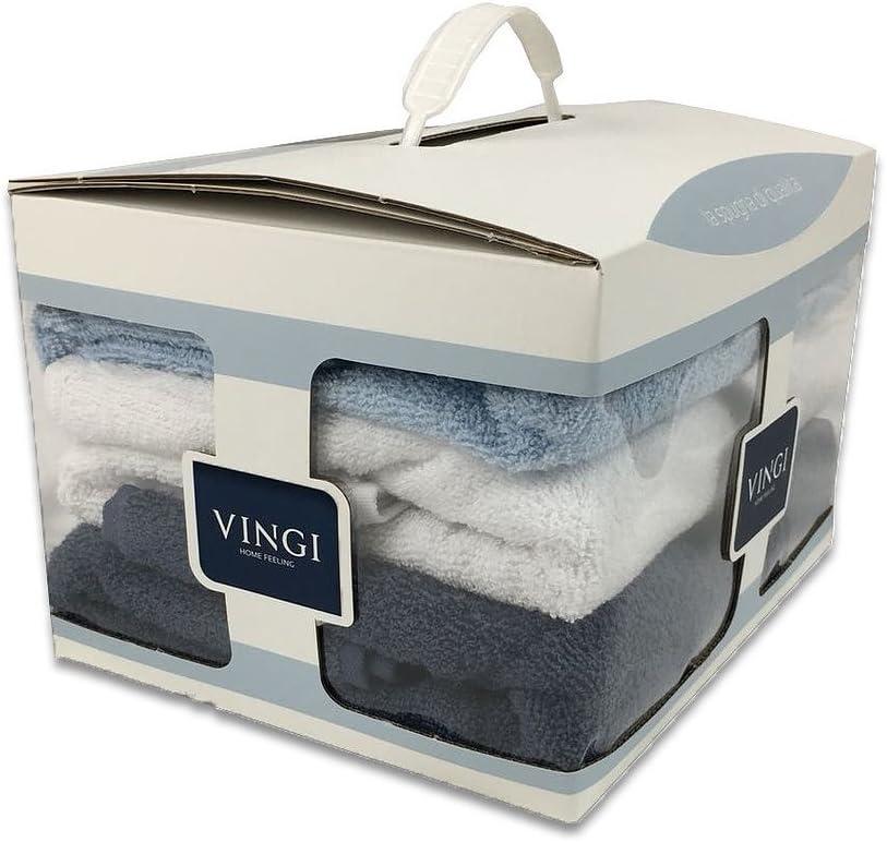 1 Vingi Alambra Store Juego de toallas de rizo de algod/ón 1 cara 1 invitados