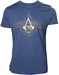 Assassins Creed Origins T-shirt Golden Crest Mens Blue