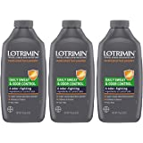 Lotrimin Daily Sweat & Odor Control Medicated Foot Powder, Topical Starch Skin Protectant, 6 Odor-Fighting Ingredients…