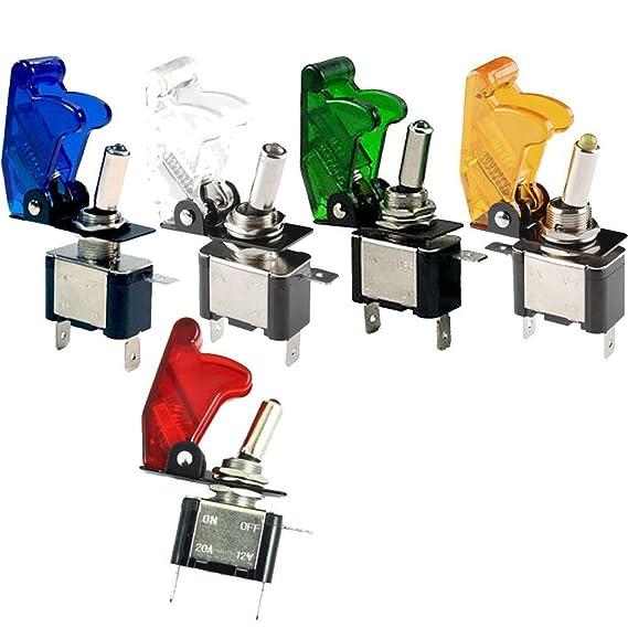 Mintice/™ Blau Auto KFZ LKW LED Licht Schalter EIN//AUS Wippenschalter Kippschalter SPST 3-polig 12V