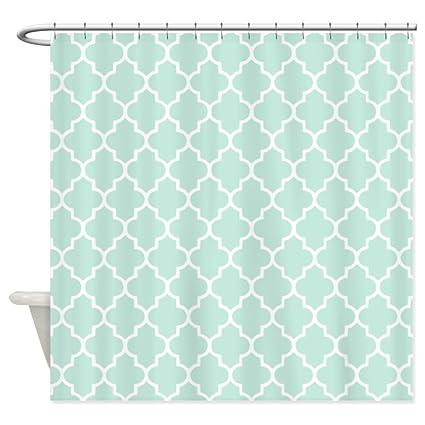 Amazon CafePress Mint Quatrefoil Shower Curtain Decorative