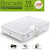 Ej. Life Single Mattress, Nine Zone Pocket Sprung Mattress 3FT Double Memory Foam Mattress with Breathable Broche Fabrics